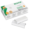 "Leitz P3 1/4"" White Staples - 30 Sheets Capacity - 24/6 - 0.25"" Leg - 0.5"" Crown - White - Steel - 1000 / Box"