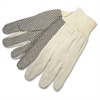General Purpose Cotton Canvas Gloves - Dotted - Cotton, Canvas - White - For General Purpose, Construction, Baggage Handling - 12 / Pack