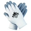 Memphis UltraTech Foam Gloves - Large Size - Foam, Nitrile Palm - White - Abrasion Resistant, Cut Resistant, Abrasion Resistant, Comfortable, Durable, Impact Resistant - For Multipurpose - 1 / Pair