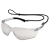 Crews BearKat Safety Glasses - Ultraviolet Protection - Rubber, Polycarbonate Lens, Polycarbonate Frame - Clear - 1 Each