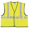 Crews ANSI Class II Safety Vest - XX-Large Size - Visibility Protection - Polyester - Lime Green, Silver - 1 Each