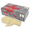 Powder-free Rubber Latex Polymer Gloves - Large Size - Latex - White - Powder-free, Disposable, Anti-microbial, Anti-bacterial, Chlorinate - For Assembling, Food Handling, Painting, Mail So