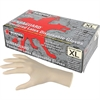 MCR Safety Latex Polymer Disposable Gloves - X-Large Size - Latex - White - Powdered, Disposable, Anti-microbial, Anti-bacterial - For Assembling, Food Handling, Painting, Industrial, Mail Sorting - 1