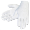 Cotton Inspectors Gloves - Cotton - White - Breathable, Comfortable, Lightweight - For Material Handling, Inspection - 1 / Pack