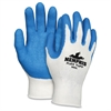 Ninja Flex Safety Gloves - Large Size - Cotton, Poly, Polymer - White, Blue - Durable, Abrasion Resistant - For Multipurpose - 1 / Pair