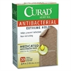 "Curad Antibacterial Extrm Hold Bandages - 0.75"" x 3"" - 30/Box - Brown"