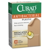 "Curad Antibacterial Plastic Bandages - 0.75"" x 3"" - 30/Box - Natural"