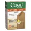"""Curad Antibacterial Fabric Bandages - 0.75"""" x 3"""" - 30/Box - Brown"""