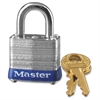 Master Lock 4-Pin Tumbler Locks - Laminated Steel Body, Metal, Steel, Hardened Steel Shackle - Silver Metal
