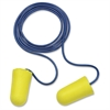 Taperfit Corded Earplugs - Large Size - Noise Protection - Foam, Polyurethane, Vinyl Cord - Yellow - 200 / Box