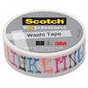 "Scotch Expressions Washi Tape - 0.59"" Width x 32.75 ft Length - Easy Tear, Writable Surface, Repositionable - 1 / Roll - Assorted"