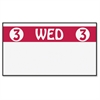 """Monarch Freezer-proof Days of the Week Labels - Permanent Adhesive - """"3 WED 3"""" - 2500 / Roll - White, Red - 1 Roll"""