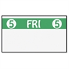 "Monarch Freezer-proof Days of the Week Labels - Permanent Adhesive - ""5 FRI 5"" - 2500 / Roll - White, Green - 1 Roll"