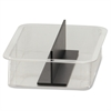 BreakCentral Vertical Condiment Replacement Trays - Plastic - Clear, Black