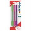 Clic Assorted Color Erasers - Lead Pencil Eraser - Latex-free Grip, Scuff-free, Smear Resistant, Tear Resistant, Pocket Clip, Retractable - 3/Pack - Assorted