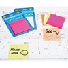 "Redi-Tag Neon SeeNote Stickies - 3"" x 3"" - Square - Assorted Neon - Removable - 2 / Pack"