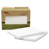 "Redi-Tag TreeFrog Notes - 90 x Classic White - 2"" x 1.50"" - Rectangle - Ruled - White - Sugarcane - Self-adhesive, Writable, Eco-friendly, Smooth - 12 / Pack"