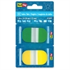 "Redi-Tag Pop-up Assorted Color Index Tabs - Write-on Tab(s) - 1"" Tab Height x 1.70"" Tab Width - Self-adhesive - Green Plastic, Yellow Tab(s) - 44 / Pack"