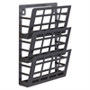"3-Pocket Grid Magazine Rack - 3 Compartment(s) - Compartment Size 4"" x 9.25"" x 2"" - 13.5"" Height x 9.5"" Width x 5.5"" Depth - Wall Mountable - Black - Steel - 1Each"