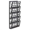 "Safco 5-Pocket Grid Magazine Rack - 5 Compartment(s) - Compartment Size 4"" x 9.25"" x 2"" - 21.5"" Height x 9.5"" Width x 5.5"" Depth - Wall Mountable - Black - Steel - 1Each"
