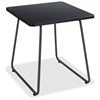 "Safco Anywhere End Table - Square Top - 20"" Table Top Length x 20"" Table Top Width x 0.75"" Table Top Thickness - 19.50"" Height - Black, Powder Coated"