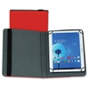 "Samsill Carrying Case (Folio) for 10"" Tablet - Red - Polyvinyl Chloride (PVC)"