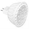 Satco MR16 Shape LED Dimmable Bulbs - 7 W - 12 V AC - MR16 Size - White - White Light Color - G5.3, GU5.3, GX5.3 Base - 25000 Hour - 4940.3°F (2726.8°C) Color Temperature - 80 CRI - Dimmable,