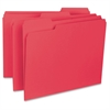 "Sparco 1/3 Cut Internal File Folders - Letter - 8 1/2"" x 11"" Sheet Size - 1/3 Tab Cut - Assorted Position Tab Location - Red - Recycled - 100 / Box"