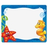 "Trend Sea Buddies Collection Terrific Labels - 3"" Width x 2.50"" Length - Rectangle - Assorted - 36 / Pack"