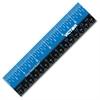 "Victor Plastic Dual Color 12"" Easy Read Ruler - 12"" Length - 1/4, 1/8, 1/16 Graduations - Imperial, Metric Measuring System - Plastic - 1 Each - Blue, Black"