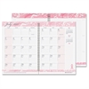 "House of Doolittle Breast Cancer Awareness Academic Monthly Journal - Academic - Julian - Monthly, Daily - 1 Year - January 2017 till December 2017 - 1 Month Double Page Layout - 7"" x 10"" - Pink - Lea"