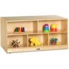 "Jonti-Craft Toddler Double-sided Storage Shelf - 24.5"" Height x 48"" Width x 28.5"" Depth - Baltic - Hard Rubber - 1Each"