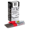 Visi-Max Dry Erase Markers - Bold Point Type - Chisel Point Style - Red - 1 Dozen