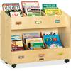 "Mobile Section Book Organizers - 6 Compartment(s) - 29.5"" Height x 36"" Width x 16"" Depth - Baltic - Acrylic - 1Each"