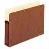 "Extra Strong Acid Free File Pockets - Letter - 8 1/2"" x 11"" Sheet Size - 1050 Sheet Capacity - 5 1/4"" Expansion - Fiber, Manila, Redrope - Redrope - 1 Each"