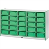 "Rainbow Accents Cubbie Storage - 25 Compartment(s) - 35.5"" Height x 60"" Width x 15"" Depth - Red - Hard Rubber - 1Each"