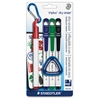 Staedtler Triplus Fine-tip Dry-erase Markers - Fine Point Type - Red, Blue, Green, Black - 4 / Pack