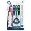 Staedtler Triplus Broad Tip Dry-erase Markers - Broad Point Type - Red, Blue, Green, Black - 4 / Pack