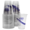 Eco-Products BlueStripe Cold Drink Cups - 12 oz - 50 / Pack - Crystal Clear - Plastic, Polyethylene Terephthalate (PET) - Cold Drink, Beverage