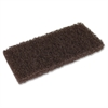 """Genuine Joe Brown Cleaning Pads - 20/Carton - 4.50"""" Width - Brown"""
