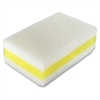 "Chemical-free Sponge - 1.5"" Height x 4.5"" Width x 2.8"" Depth - 1Each - Melamine - White, Yellow"