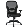 "Office Star Professional Managers Chair - Leather Seat - 5-star Base - Black - 20"" Seat Width x 19.50"" Seat Depth - 27.3"" Width x 25.8"" Depth x 46.3"" Height"