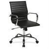 "WorkSmart WorkSmart Faux Leather Chair - Chrome Black - Faux Leather - 18.50"" Seat Width x 18"" Seat Depth18.5"" Width x 18"" Depth x 18"" Height"