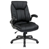 "Office Star Faux Leather Managers Chair - Black - Faux Leather - 20.50"" Seat Width x 19.50"" Seat Depth20.5"" Width x 19.5"" Depth x 20.5"" Height"