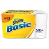 Basic Paper Towel Roll - 1 Ply - White - Durable, Perforated, Absorbent - For Multipurpose - 12 / Carton