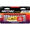 Rayovac Fusion Alkaline AA Batteries - AA - Alkaline - 16 / Pack