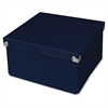 "Pop n' Store Medium Square Box - Navy Blue - 10.63""x6""x10.63"" - External Dimensions: 10.6"" Length x 10.6"" Width x 5.9"" Height - Heavy Duty - Stackable - Paper, Chipboard, Metal, Fabric, Fiberb"
