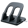 Manual Three-hole Punch - 3 Punch Head(s) - 100 Sheet Capacity - Black