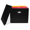 "Advantus Paperboard File Box - External Dimensions: 9.8"" Width x 10.8"" Depth x 13""Height - Media Size Supported: Letter - Lift-off Closure - Paperboard - Black - For File, File Folder - 1 Each"