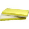 "Impact Products Light Duty Scrubber Sponge - 0.9"" Height x 3"" Width x 6.3"" Length - 5/Pack - Cellulose - White, Yellow"
